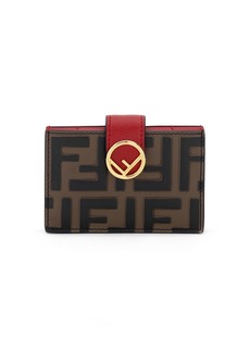 Fendi FF-Embossed Micro Cruise Wallet