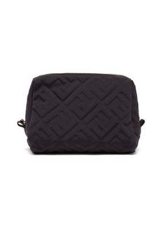 Fendi FF-embossed neoprene makeup bag