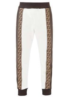 Fendi FF-jacquard cotton-blend jersey track pants