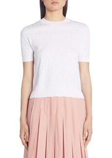 Fendi FF Jacquard Cotton Blend Sweater