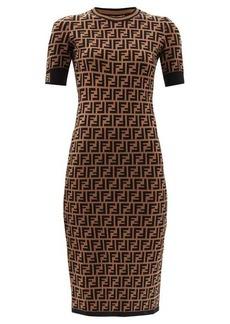 Fendi FF-jacquard midi dress