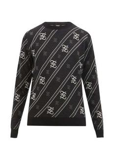 Fendi FF-Karligraphy wool sweater
