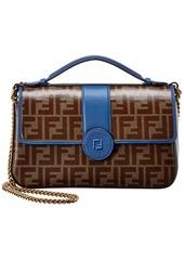 Fendi Ff Leather Shoulder Bag