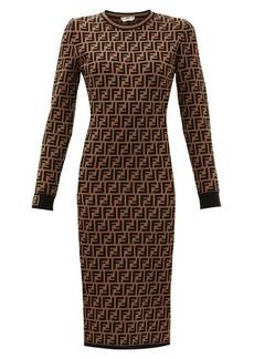 Fendi FF-logo jacquard sweater dress