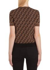 Fendi FF Logo Knit Top