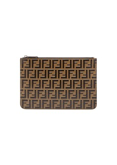 Fendi FF logo leather pouch