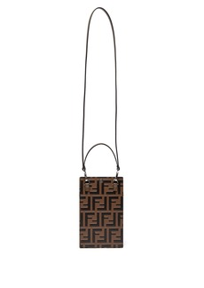 Fendi FF logo neck strap leather iPhone® X case