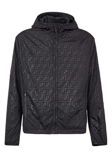 Fendi FF Logo Packable Hooded Jacket