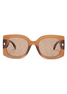 Fendi FF-logo square acetate sunglasses