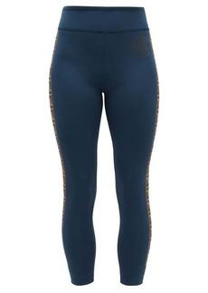Fendi FF-logo stripe athletic leggings