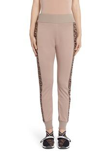 Fendi FF Logo Tape Jersey Jogging Pants