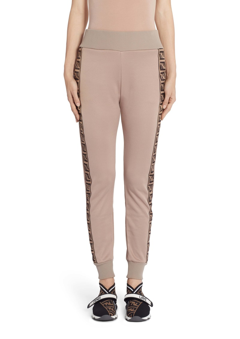 Fendi FF Logo Tape Jersey Jogging Pants