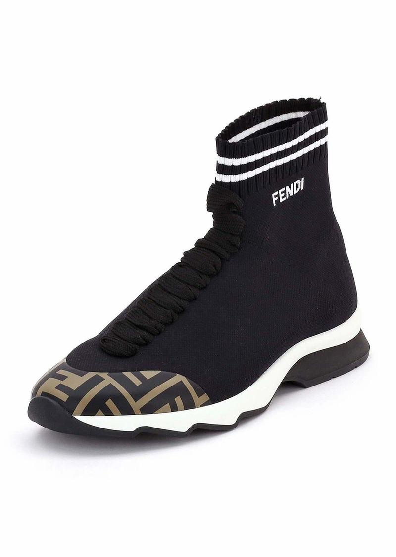 Fendi Fendi FF Mid-Top Sock Sneakers  6d863f9c3b658