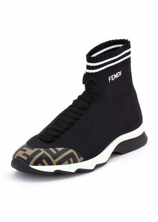 Fendi FF Mid-Top Sock Sneakers