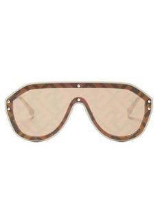 Fendi FF Monogram aviator sunglasses