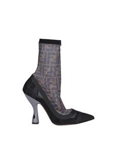 Fendi Ff Pump Ankle Boots