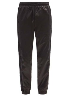 Fendi FF side-stripe cotton-satin track pants