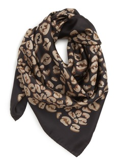 00394508 Fendi Fringed leopard-print modal and silk-blend voile scarf | Misc ...