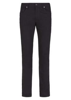 Fendi FF Velvet Stripe Slim Fit Jeans