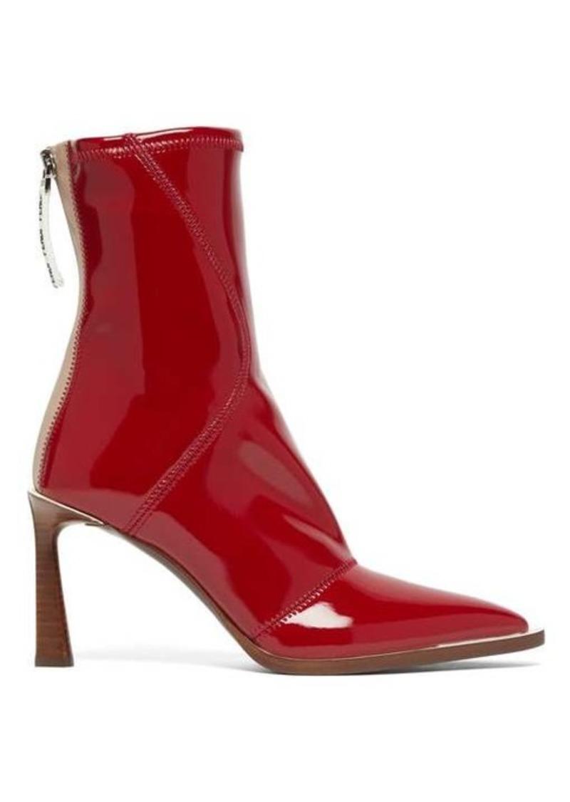 Fendi FFrame patent-effect neoprene boots