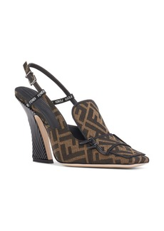 Fendi FFreedom FF Slingback Loafer Pump (Women)