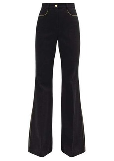 Fendi High-rise flared-leg jeans