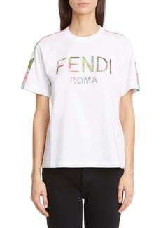 Fendi Floral Logo Graphic Tee