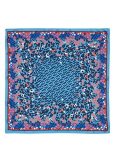 Fendi Floral Logo Silk Scarf
