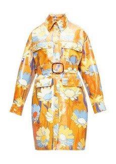 Fendi Daisy-print coated-cotton coat