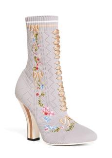 Fendi Floral Sock Bootie (Women)