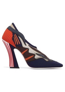 Fendi Freedom logo square-toe pumps