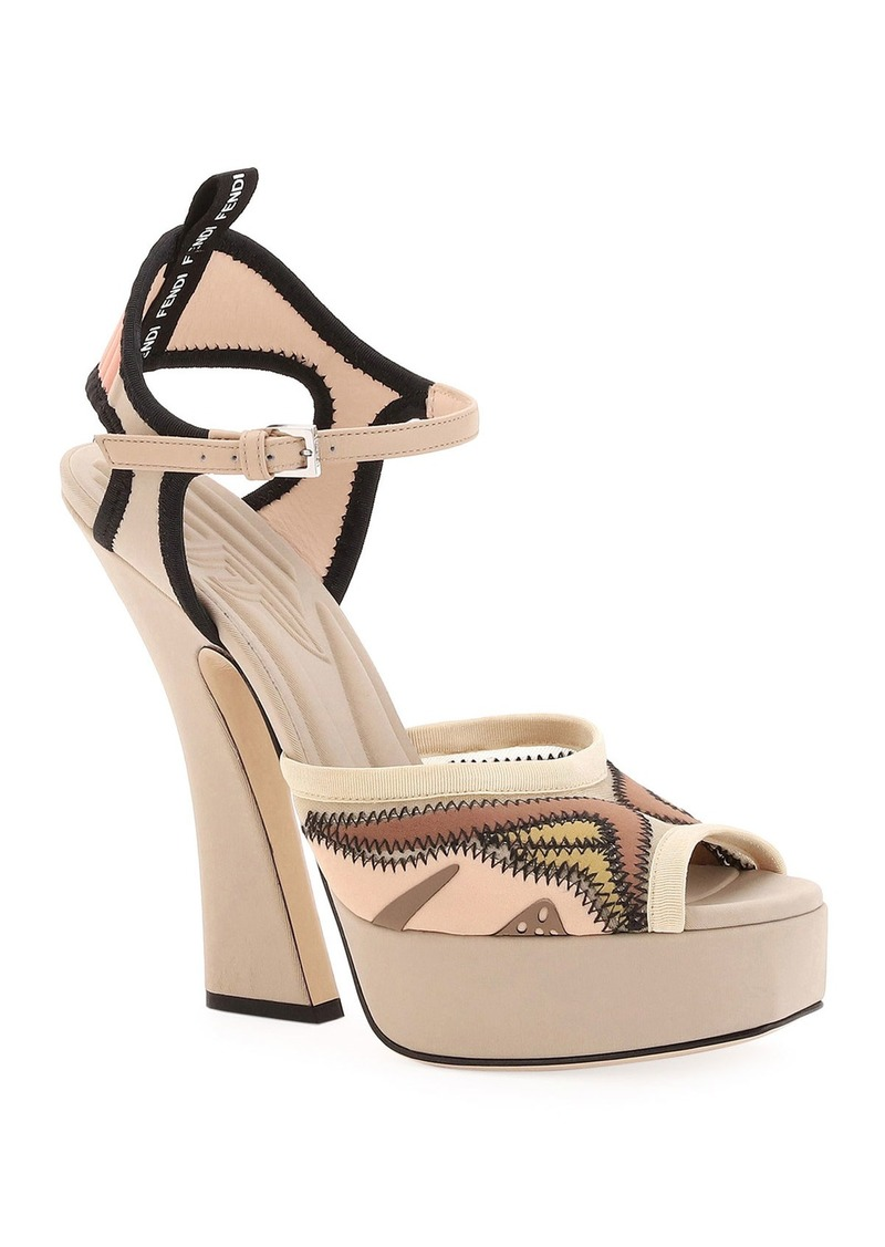 Fendi Freedom Platform Stretch Sandals