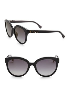 Fendi Fun Fair 56MM Round Cat Eye Sunglasses
