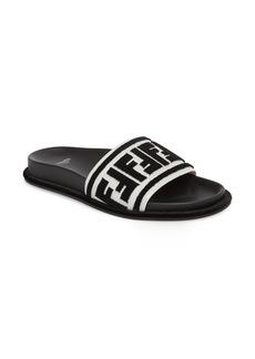 Fendi Fun Fendi Logo Slide Sandal (Women)