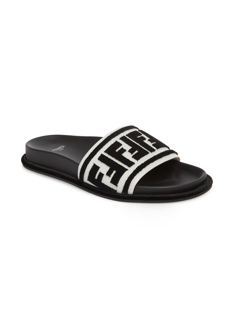 5be03a8987cd Fendi Fendi Fun Fendi Logo Slide Sandal (Women)