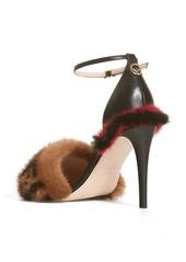 0c4543a62506 Fendi Fendi Fun Genuine Mink Fur Logo Sandal (Women)