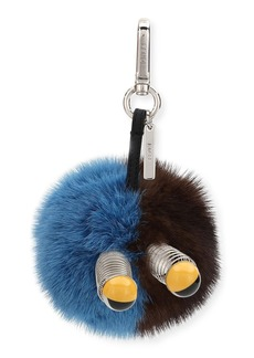 Fendi Fur Spring Eyes Charm for Bag or Briefcase