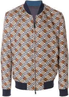 Fendi geometric print bomber jacket - Brown