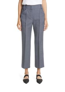 Fendi Gingham Wool Crop Bootcut Trousers