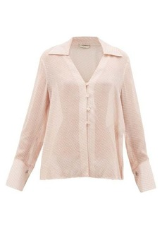 Fendi Gloria fil-coupé silk-blend blouse