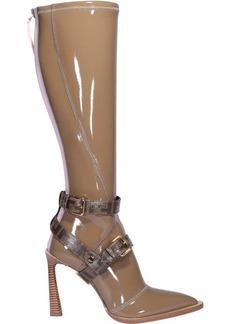 Fendi Glossy Neoprene Ff Boots