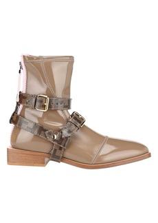 Fendi Glossy Neoprene Low Ankle Boots