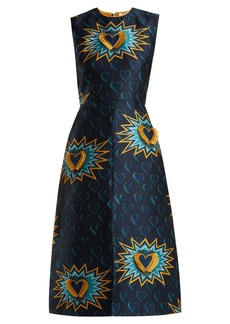 Fendi Heart Beat jacquard midi dress