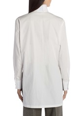 Fendi High Collar Cotton Shirt