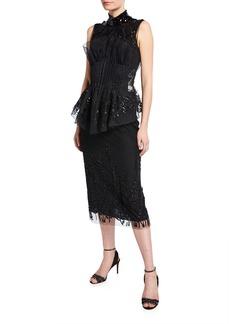 Fendi High-Neck Mini Dress