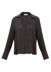 Fendi High-neck poplin blouse