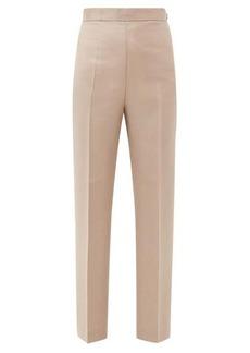 Fendi High-rise mohair-blend trousers