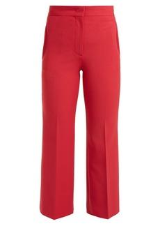 Fendi High-rise stretch wool-blend trousers