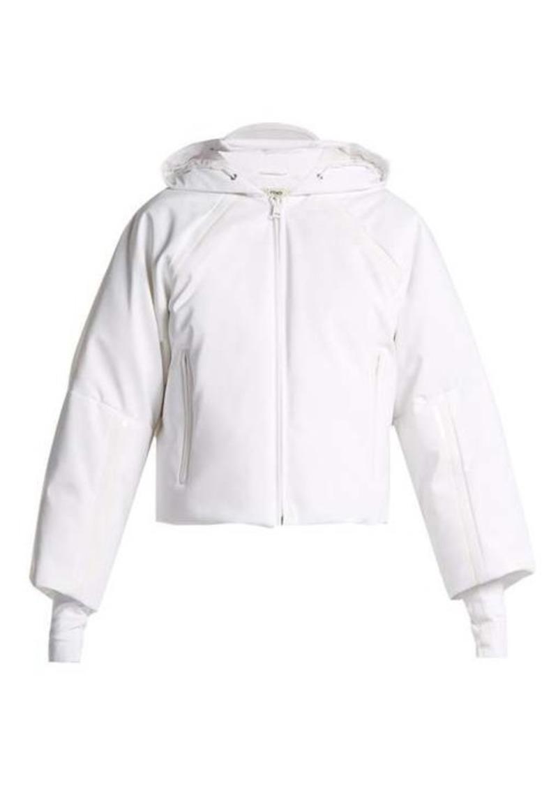4da839b1 Hooded cropped-sleeve down ski jacket