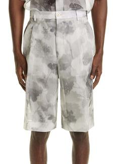 Fendi Hortensia Floral Print Silk Shorts